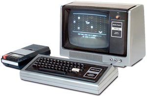radio shack desktop from 1970s